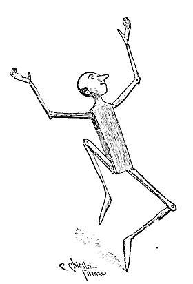 Dessin de Carlo Chiostri, 1901