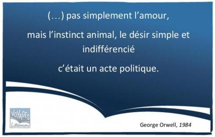 Citation 1984 Orwell - L'amour